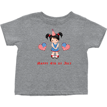 Toddler Heart Fourth of July T-shirt