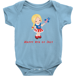 Blonde Fourth of July Baby Bodysuit