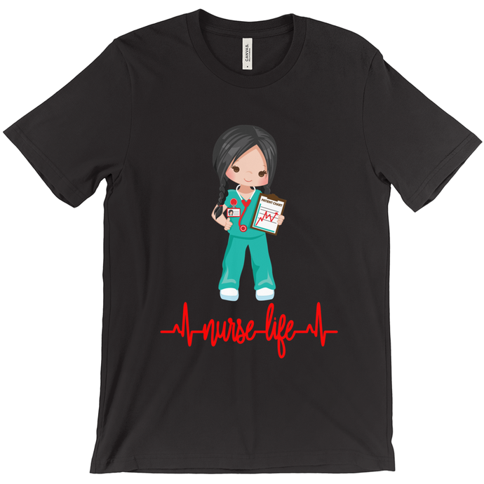 Black Hair Nurse Life T-Shirt