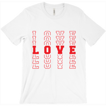 "Red ""LOVE"" Shadow Font T-Shirt"