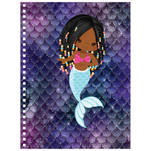 Braided Hair African American Mermaid Notebook