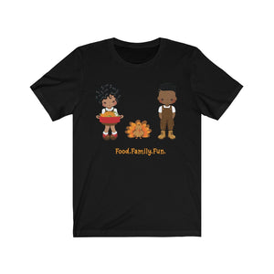 Food Family Fun Black Family Thanksgiving T-Shirt