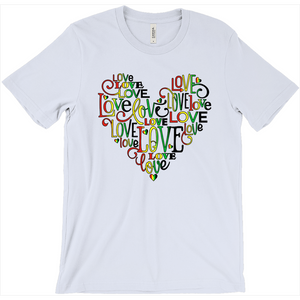 Love-filled Heart Shaped Black History T-Shirt