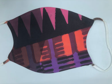 Adult Pink, Brown, Orange, and Purple Mask