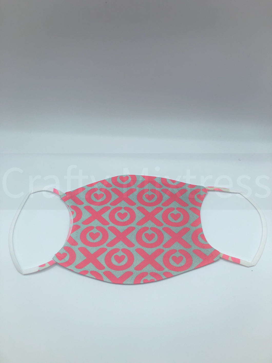 Adult Pink and Green Hugs and Kisses Mask