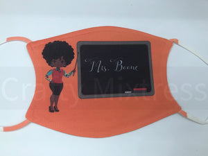 Adult Female Teacher Blackboard Mask