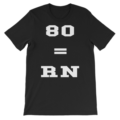 Eighty Equals RN Short-Sleeve Unisex T-Shirt