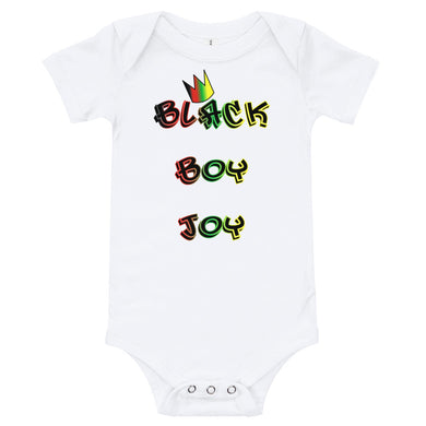 Black Boy Joy Baby Bodysuit