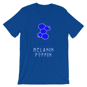 Blue and White Melanin Poppin Short-Sleeve Unisex T-Shirt