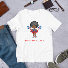 African American 4th of July Afro Unisex T-Shirt