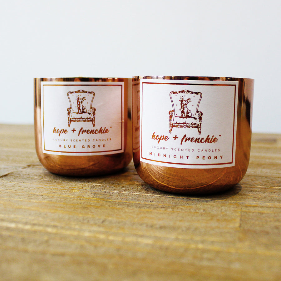 2 candles set, Candles, candle set (240g each) | Hope + Frenchie