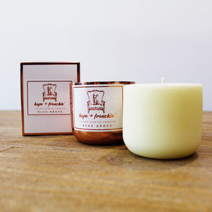 1 candle + 1 refill set, Candles, candle set (240g each) - hope + frenchie