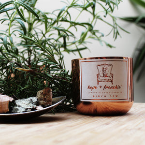 birch dew, Candles, Birch Tar + Rosemary (240g) - hope + frenchie