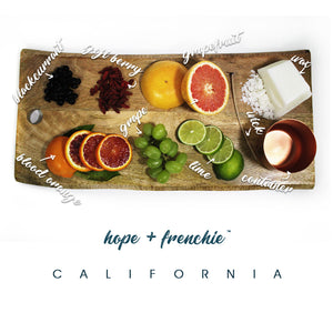 the california, Candles, Goji Berry, Lime + Blood Orange (240g) - hope + frenchie