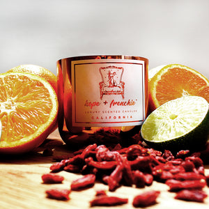 the california, Candles, Goji Berry, Lime + Blood Orange (240g) | Hope + Frenchie
