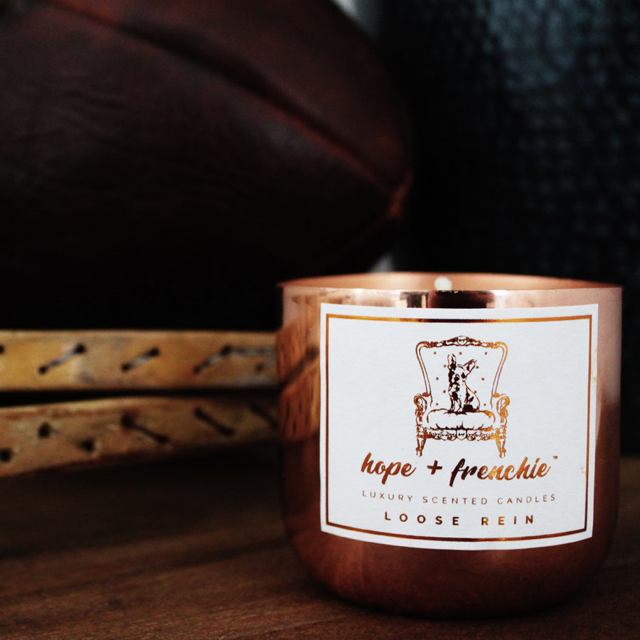loose rein, Candles, Grass, Leather + Absinthe (240g) - hope + frenchie