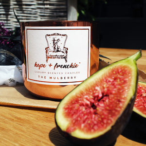 the mulberry, Candles, Fig + Cassis (240g) - hope + frenchie