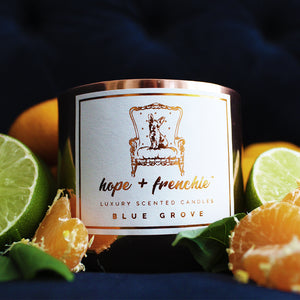 blue grove, Candles, Basil, Lime + Mandarin (240g) | Hope + Frenchie