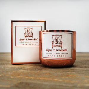 blue grove, Candles, Basil, Lime + Mandarin (240g) - hope + frenchie