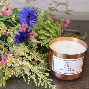 wildflower, Candles, Bluebell + Hyacinth | Hope + Frenchie