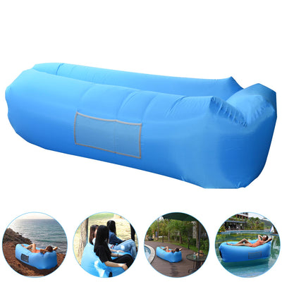 Inflatable Lounger, AngLink Portable Air Sofa Couch bed Nylon Waterproof Durable Foldable with Carry Bag for Indoor/Outdoor Lounging Summer Hiking Camping Beach Fishing Park Travelling