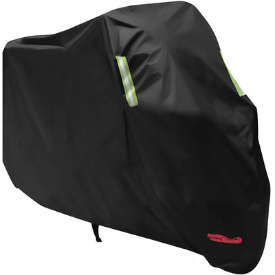 Motorbike Cover, AngLink Motorcycle Cover Waterproof 210D Oxford Fabric Heavy Duty Anti Dust Rain UV Indoor Outdoor Protection Cover with Lock-Holes for Outside Storage - Storage Bag Inclued