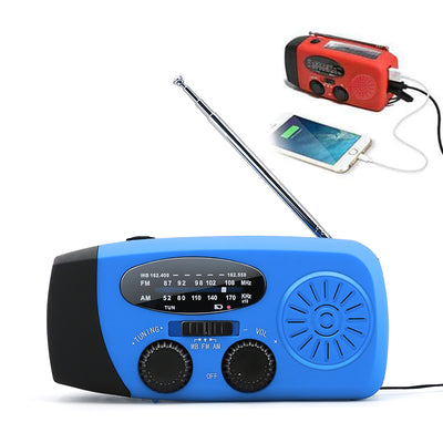 Emergency Solar Radio LED Flashlight Hand Crank Dynamo Rechargeable Radio AM/FM/WB
