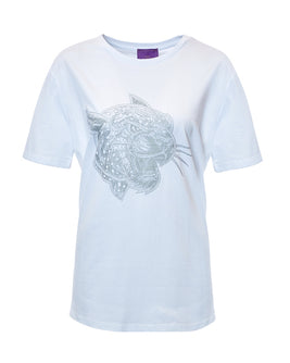 Crazy Leopard Silver-White T-Shirt Male