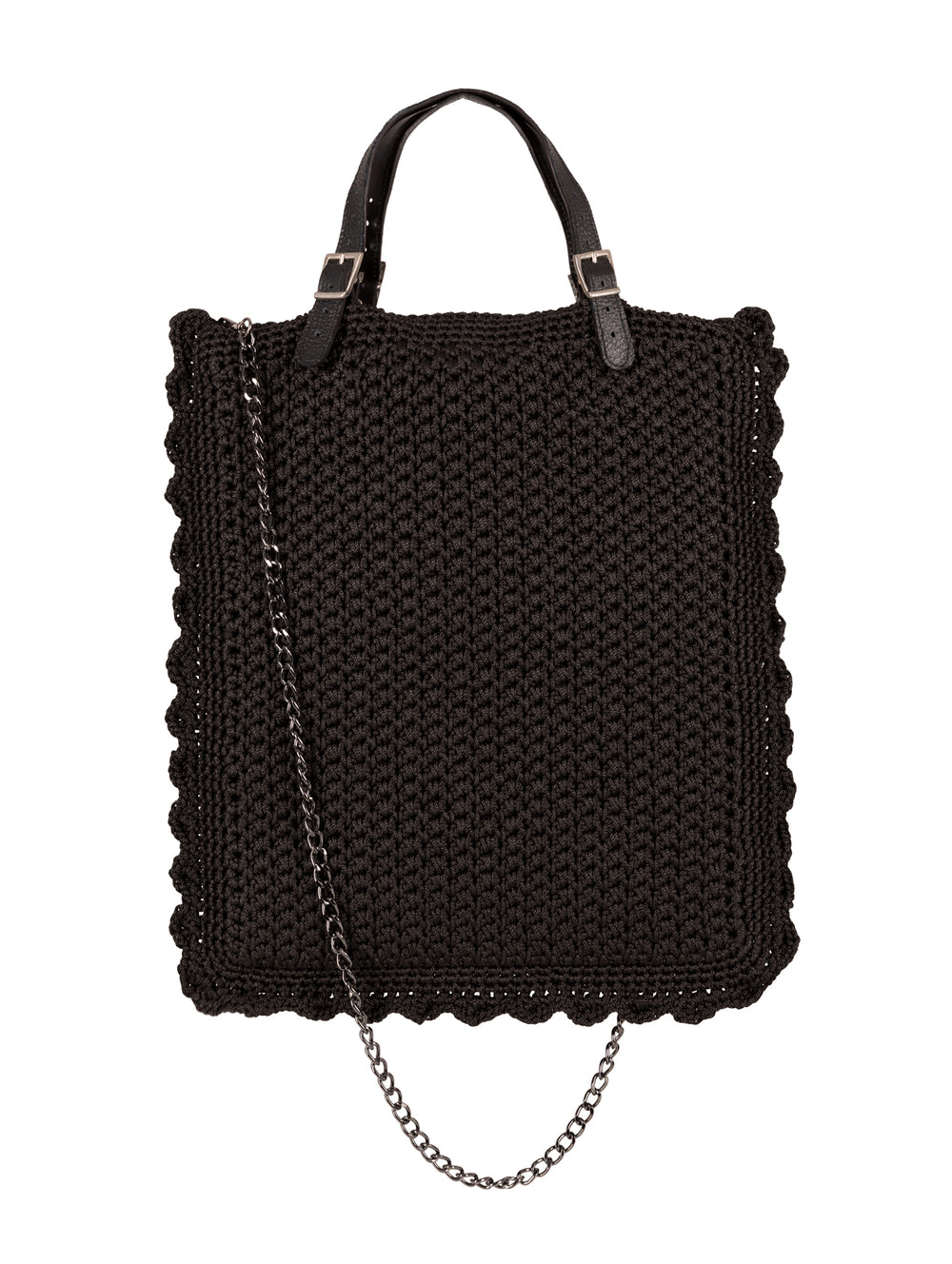 Crochet Bag Black Narrow