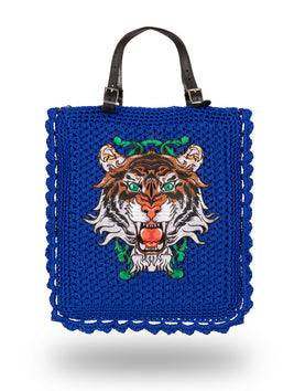 Tiger with Liane Bag Blue