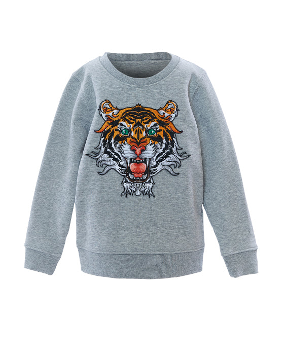 Mini Tiger Sweatshirt Grey
