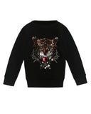 Mini Sparkling Tiger Sweatshirt Black