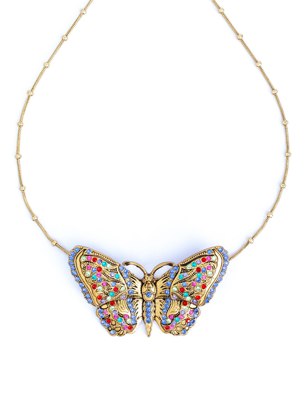 Colorful Butterfly Crystal Gold