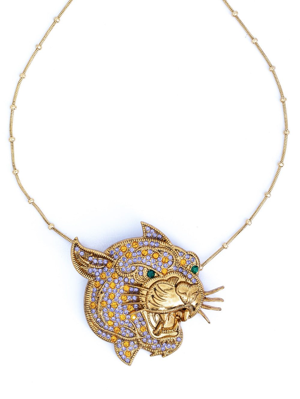 Colorful Leopard Crystal Gold
