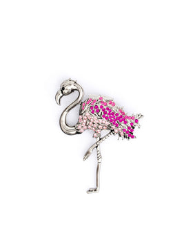 Flamingo Crystal Silver