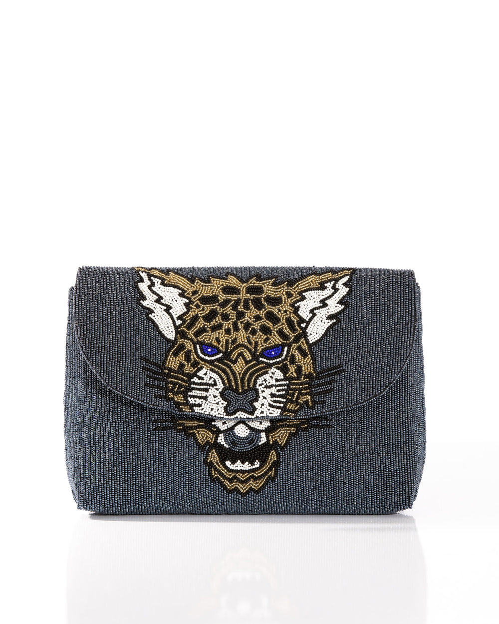 Leopard Clutch Blue