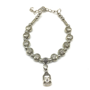 Buddha Charm Beads with Silver Bracelet - DigitalDressRoom