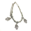 Digital Dress Room Silver Hamsa Charm Bracelet