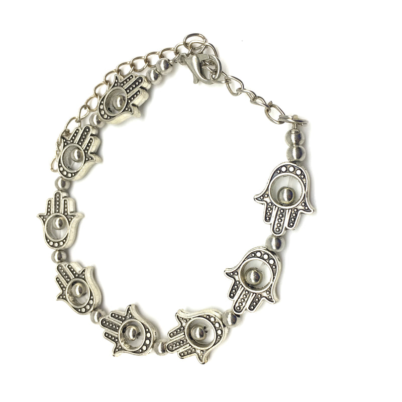 Digital Dress Room Silver Hamsa Bracelet