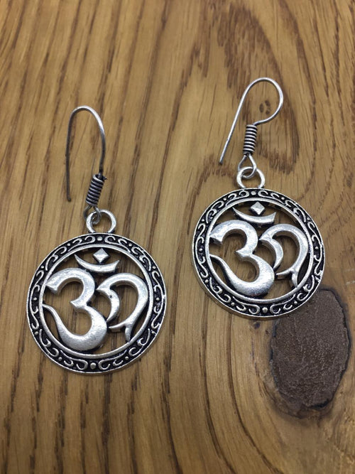 Digital Dress Room Digital Jhumki Earrings for Women Designer Oxidised Silver Earrings Afghani Tribal Bohemian German Silver Stylish Party Wear Dangle Drop Earrings Jaipuri Tribal Om Namah Shivay Antique Jewellery