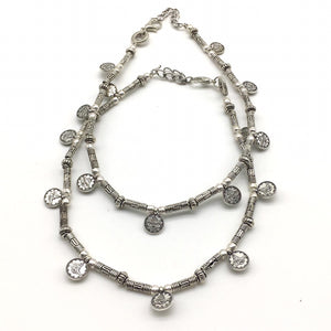 Delicate Silver Coin Payal Anklet - DigitalDressRoom