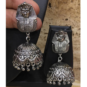 Oxidised Silver Tribal Tibetan Egyptian Earrings - DigitalDressRoom