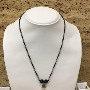 Modern Pendant Black Beads Single Layer Traditional Short Mangalsutra