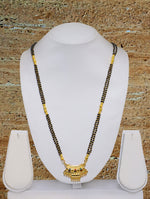 Digital Dress Room Long Mangalsutra Designs Gold Plated Latest Designer Pendant Black Beads Chian Mangalsutra