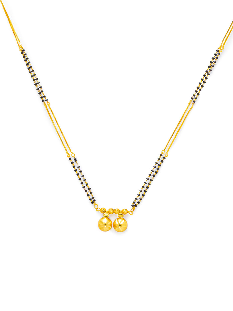 Digital Dress Room Digital Dress Room One Gram Gold Plated Long Mangalsutra मंगलसूत्र Latest Design Tanmaniya/Long Gold Chain/Black Beads Vati Pendant New Mangalsutra Designs For Women (28 Inches)