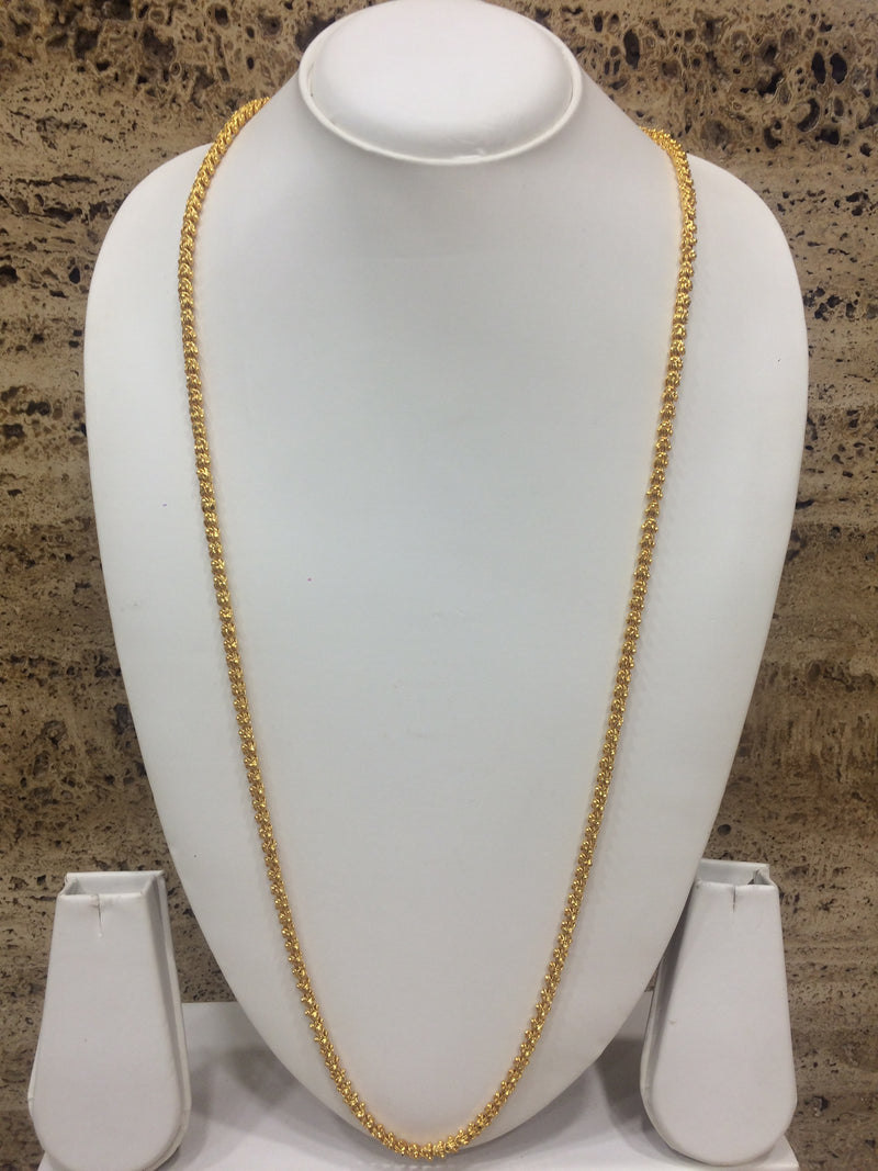 Traditional Single Line Layer Golden Necklace for Women