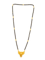 Digital Dress Room Digital Dress Room One Gram Gold Plated Long Mangalsutra मंगलसूत्र Latest Design Tanmaniya/Long Gold Chain/Black Gold Beads New Mangalsutra Designs For Women (30 Inch)
