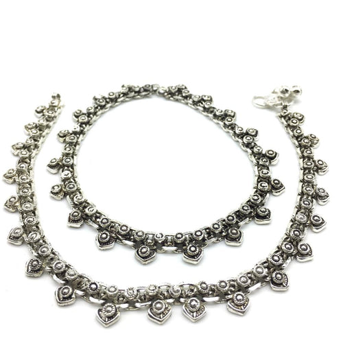 Digital Dress Room Silver Plated  Payal Anklet Comes Pair