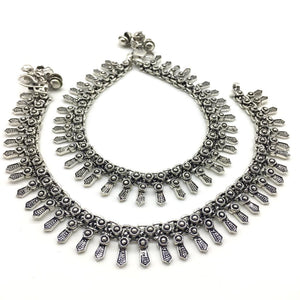 Traditional Silver Plated Anklet Payal - DigitalDressRoom