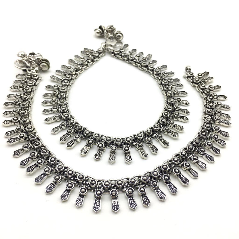 Traditional Silver Plated Anklet Payal